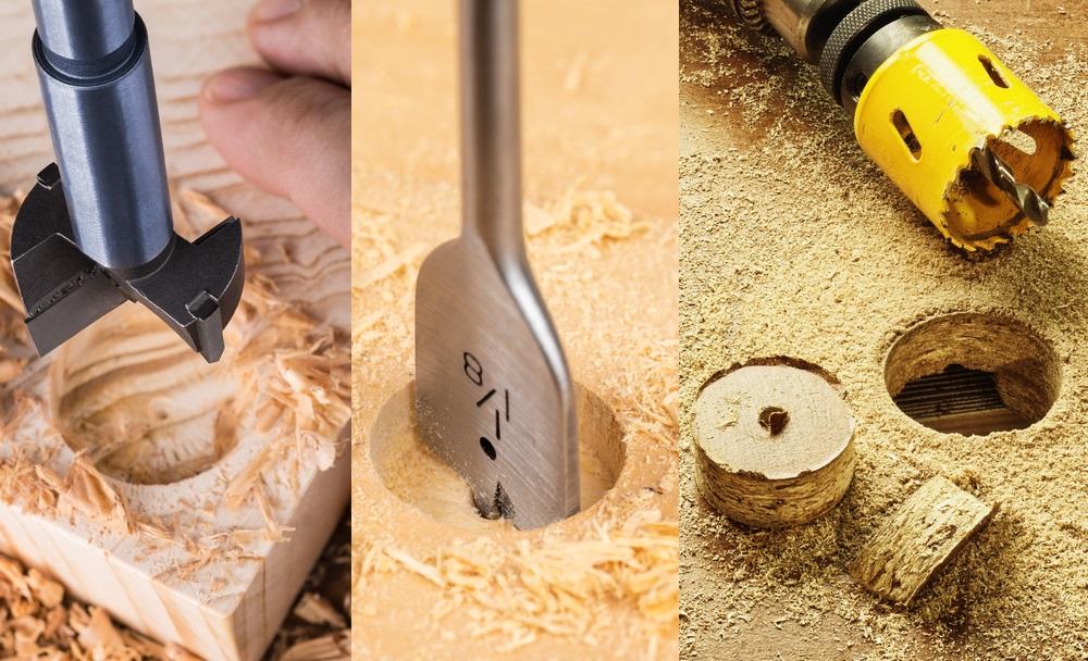 spade bit vs forstner bit vs hole saw